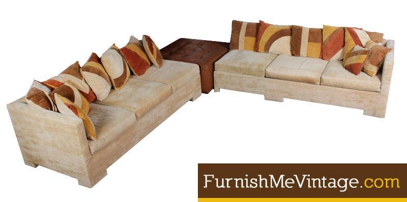 Remarkable Vintage 1970S Era Sofa Sectional Creativecarmelina Interior Chair Design Creativecarmelinacom