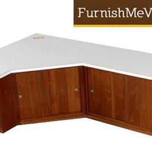 Mid-Century Modern Custom Corner Cabinet Credenza