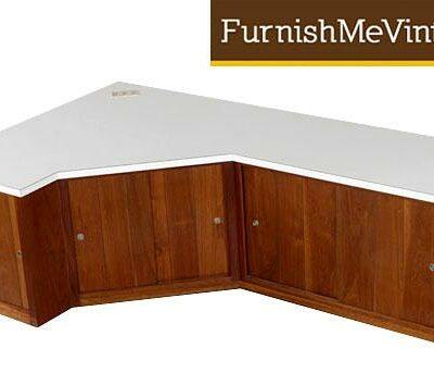 corner cabinet credenza,mid-century,modern,retro,storage,walnut