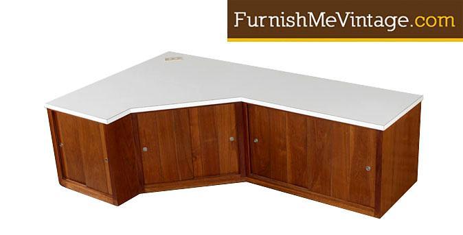 Vintage Custom Corner Cabinet Credenza