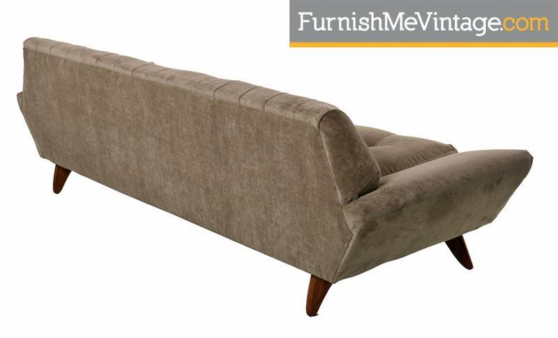 Long Mid Century Modern Pearsall Style Gondola Sofa