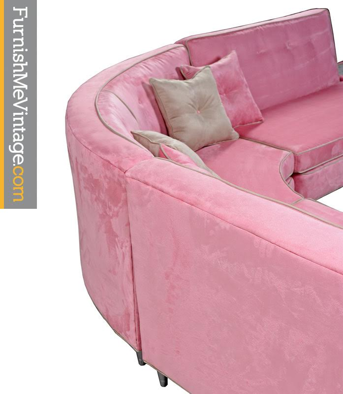 Pink Microsuede Sectional Sofa Amp Coffee Table Furnish Me