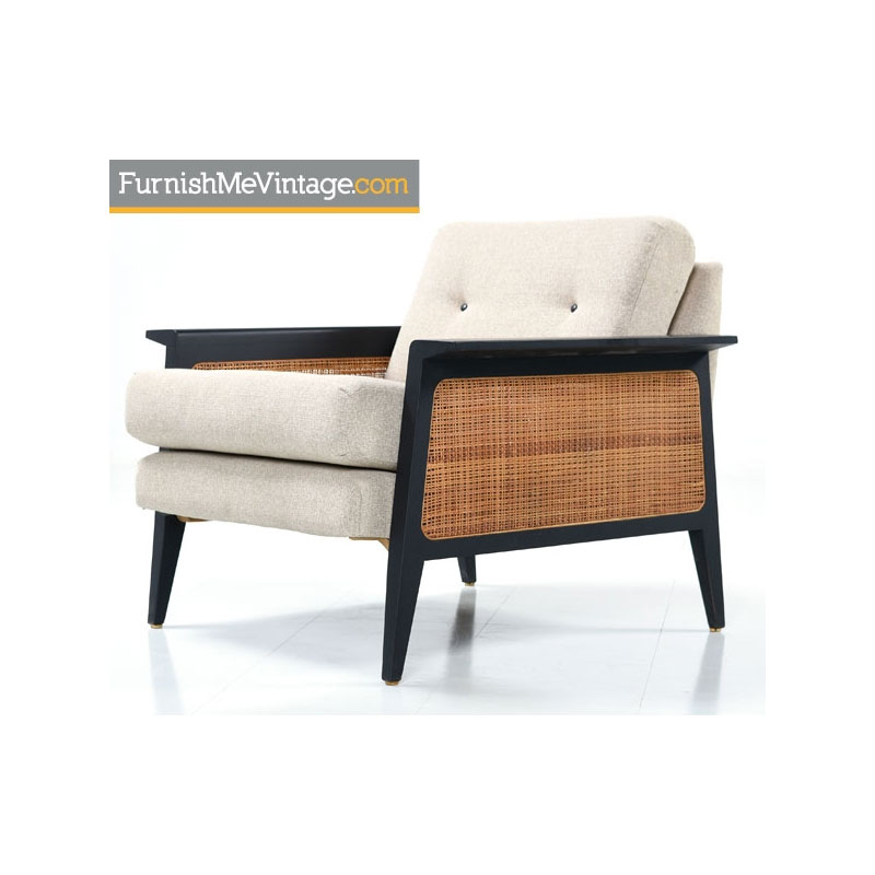 Mid Century Modern Caned Chair