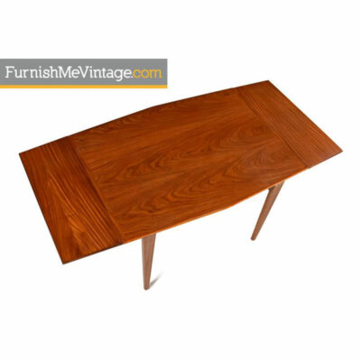 expanding tapered teak table