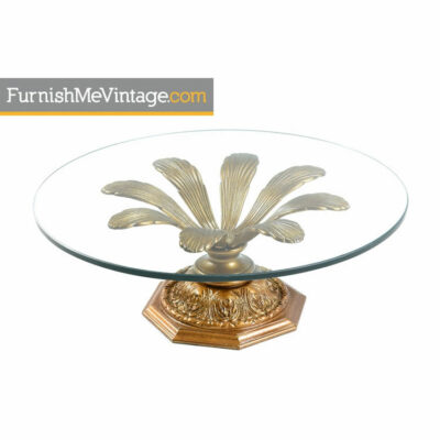 Gold flower coffee table