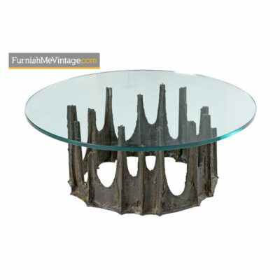 paul evans stalagmite, coffee table,brutalist,modern,1973