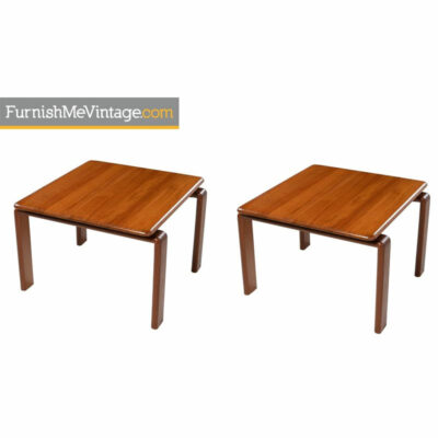 solid teak end tables