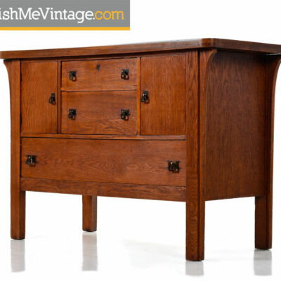 Stickley Style Arts & Crafts Mission Oak Sideboard Server