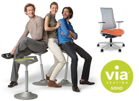 contemporary ergonomic tasks chairs by Via Soho