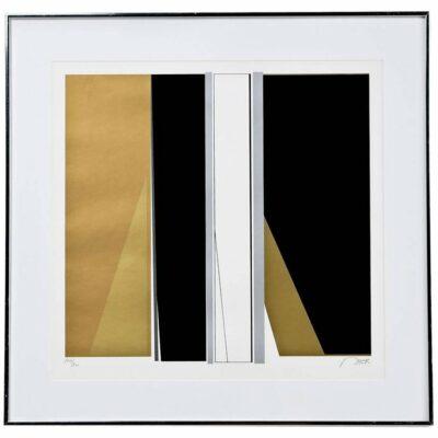 Baker gold and black screen print