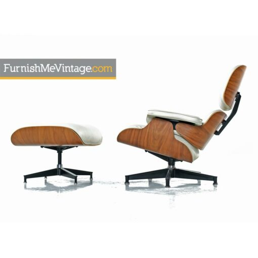 Eames Chair by Herman Miller in Ivory Leather