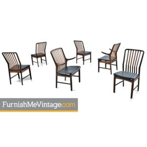 Svend Aage Madsen for Moreddi Danish Walnut Dining Chairs Set of (6)