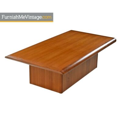 Vejle Stole, Mobelfabrik ,Danish Teak ,Pedestal Base, Coffee Table