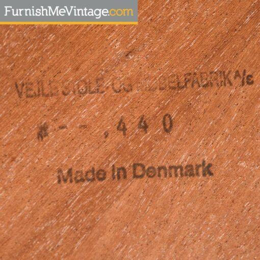 danish teak vejle stole og mobelfabrik coffee table