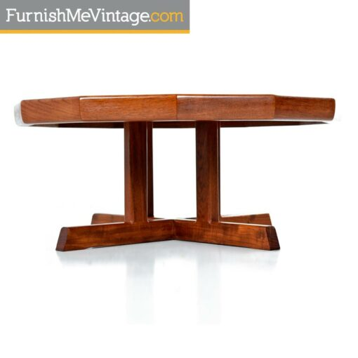 Vintage Restored Danish Modern Dodecagon Teak Coffee Table Made In Canada