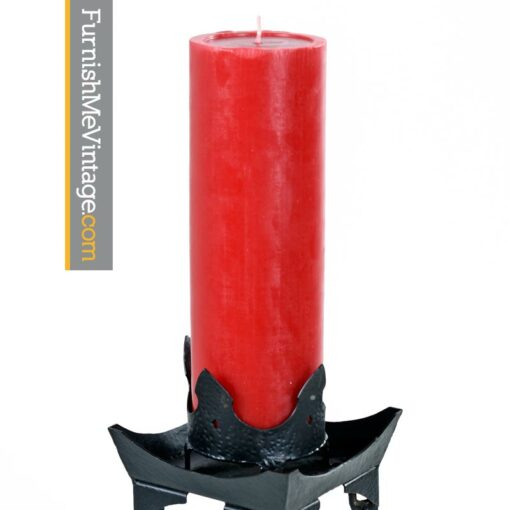 Gothic Torchiere Vampire Candle Stands - Neo Medieval Metal Chain Link