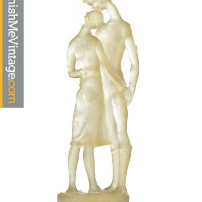 Figural modern resin sculpture of lovers embracing circa 1970s. Statuesque male and female forms made from semi-transparent acrylic lucite