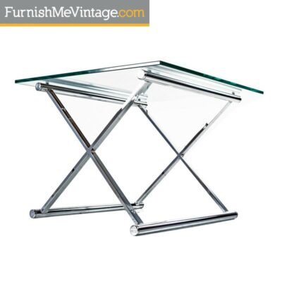 mies van der rohe chrome end table