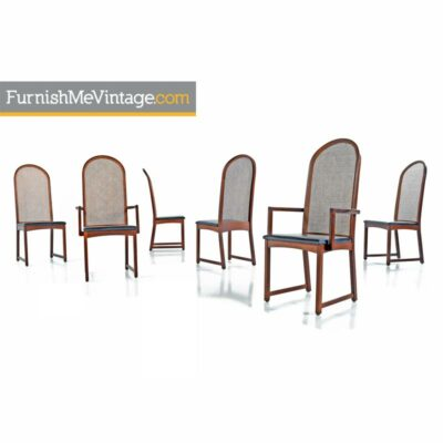 Milo Baughman Cane Back Dining Chairs