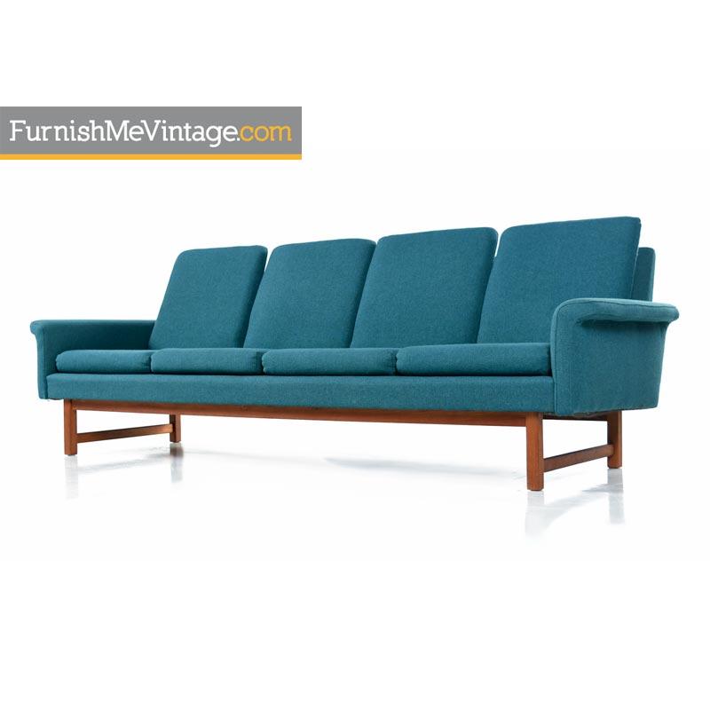 Vintage Hans Wegner Folke Ohlsson U0026 Fritz Hansen Style Danish Modern Sofa  Couch