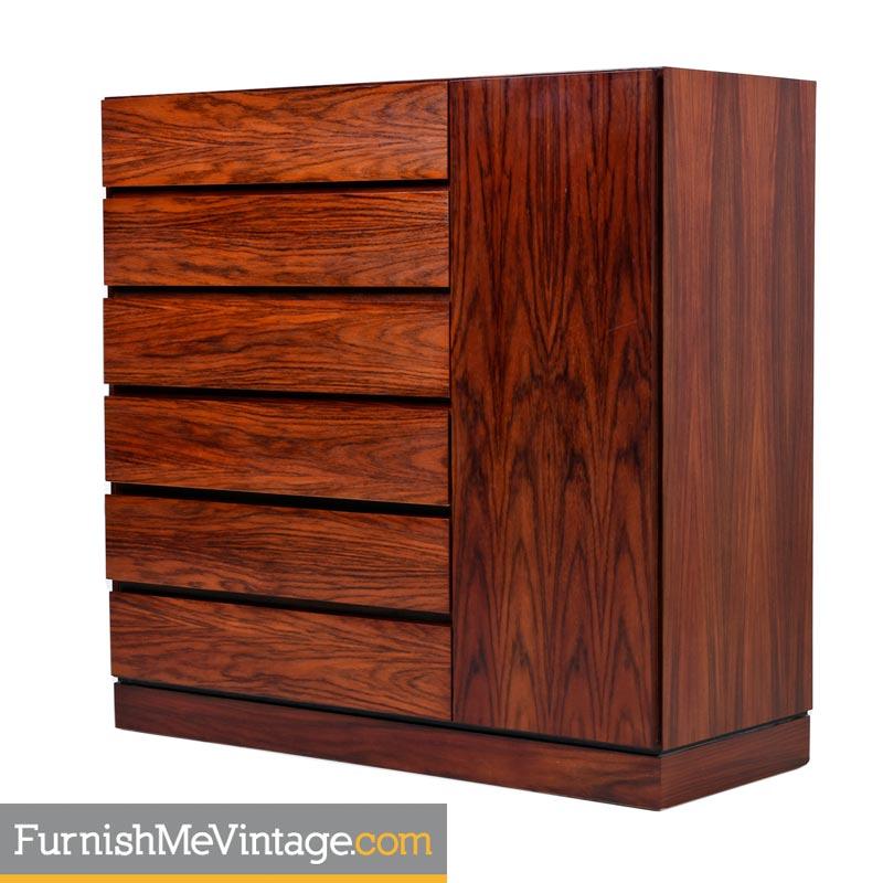 Rosewood Gentlemans Dresser Made In Denmark