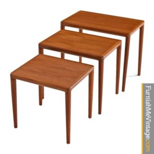 K.T. Danish Modern Teak Nesting Tables
