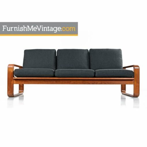 Solid Teak Danish Sofa Couch