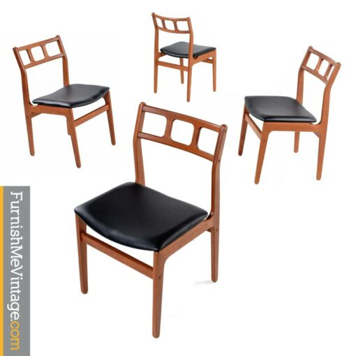 Teak Dining Chairs Set of 4