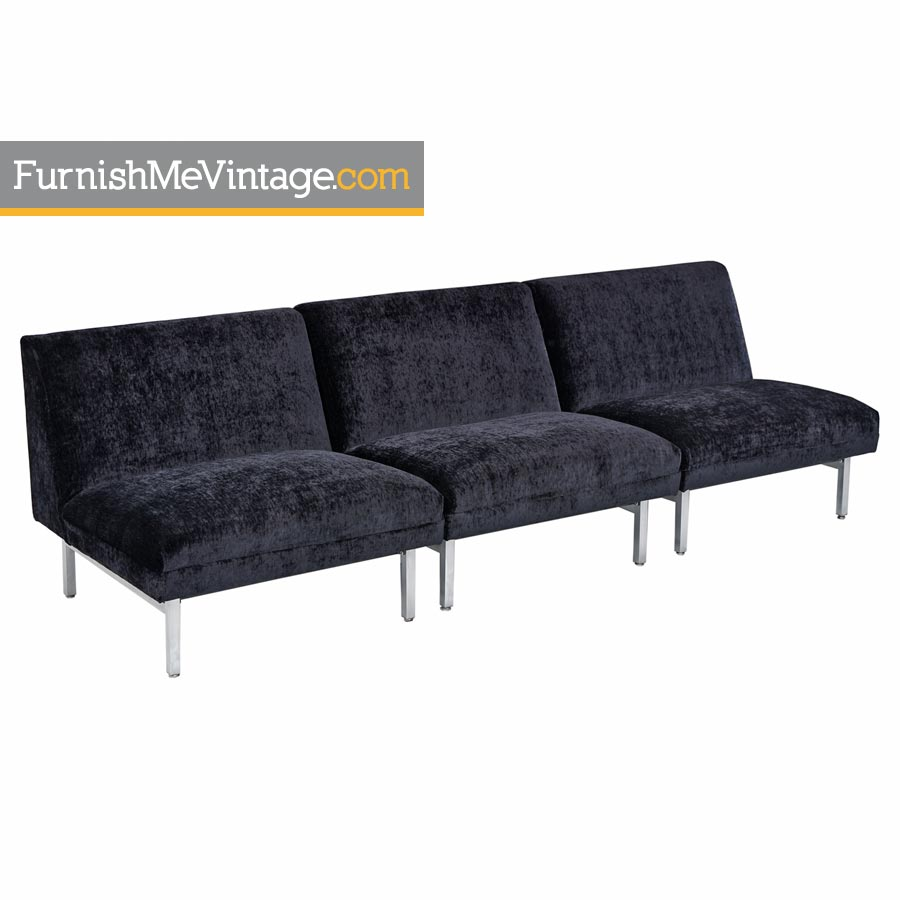 Three-Piece George Nelson for Herman Miller Sectional Sofa Modular Seating  Group