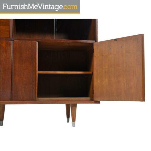 Mid Century Modern BP John Correlaire Bookcase Hutch on Bench