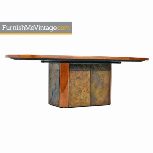 slate craft,brutalist,south african,cherry wood,coffee table