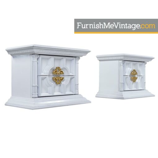 hollywood-regency,white,lacquer,end tables