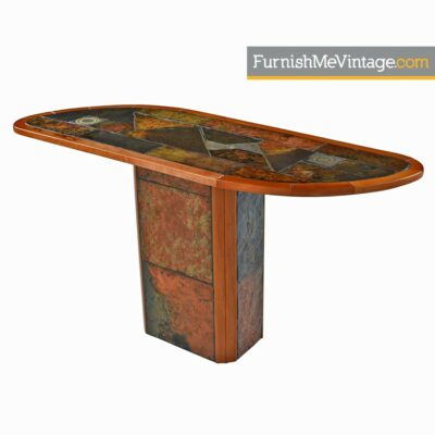 slate craft,brutalist,south african,cherry wood,console table