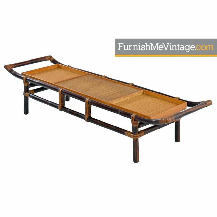 Ficks Reed John Wisner Rattan Patio Coffee Table