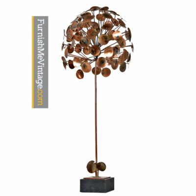 Jonathan Adler Style Raindrop Tree Metal Sculpture