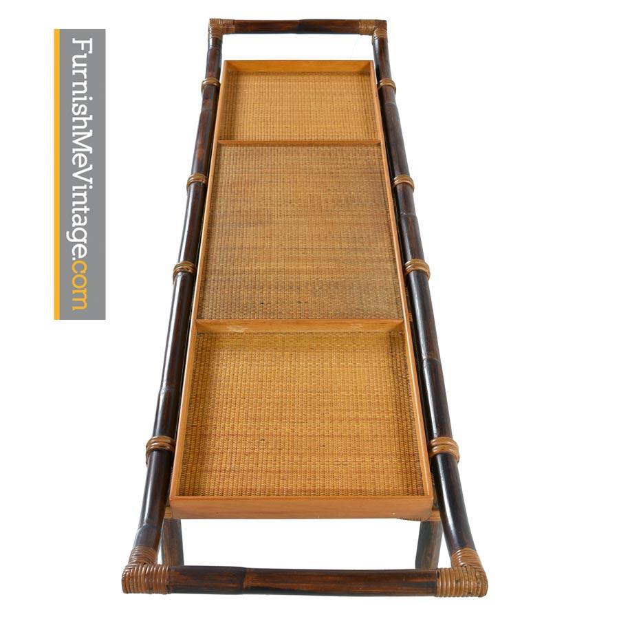 Modern Bamboo Coffee Table: Ficks Reed John Wisner Rattan Patio Coffee Table