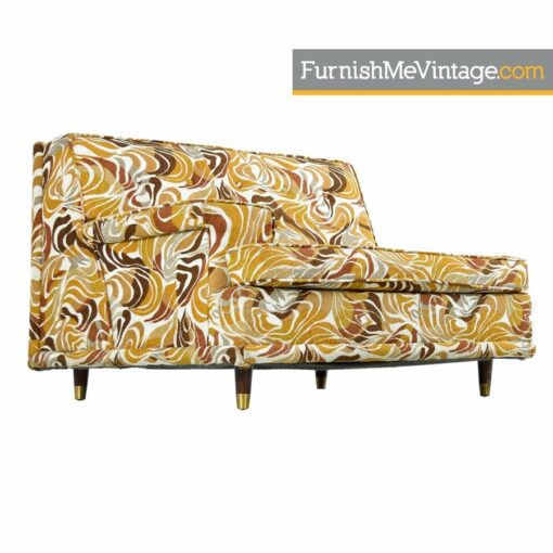 Settee Sofa Set - Original Psychedelic Print Fabric