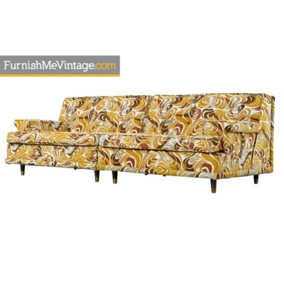 Settee Sofa Set - Original Psychedelic Print Fabric