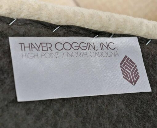 Thayer Coggin sofa label