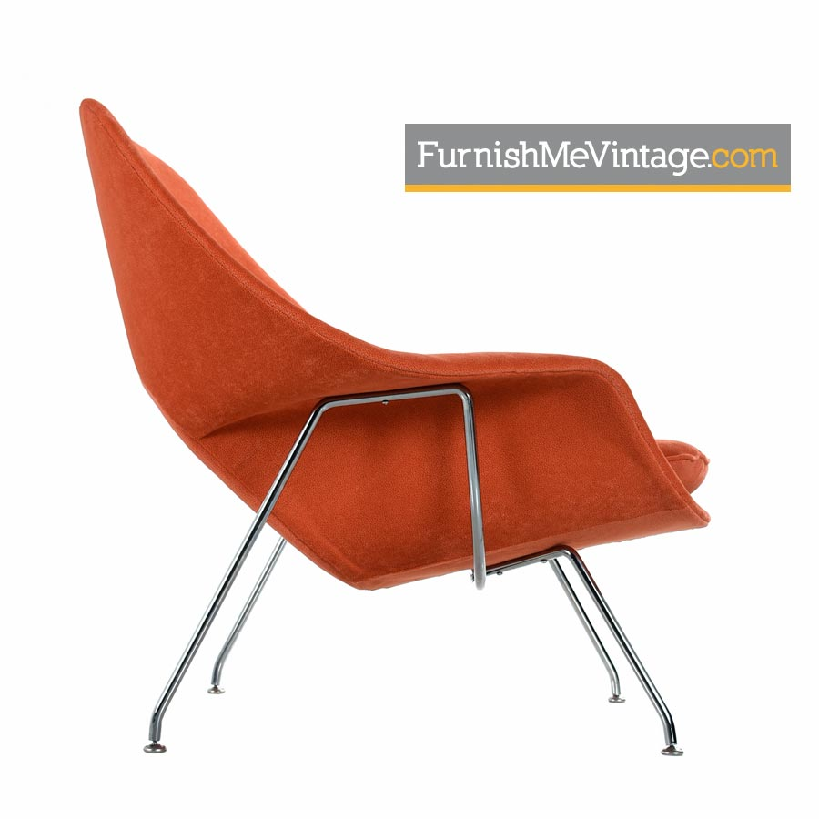vintage eero saarinen for knoll womb lounge chair restored with new