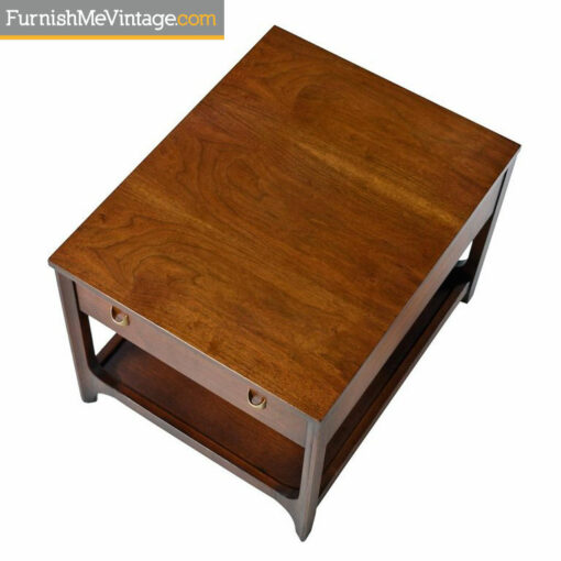 Brasilia Chairside Tables by Broyhill Premier - Mid-Century Modern Walnut