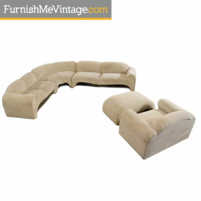 Art Deco, Sofa, Sectiona,milo baughman,kagan