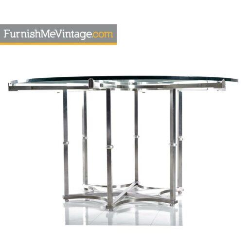 chrome,glass,dining table,modern