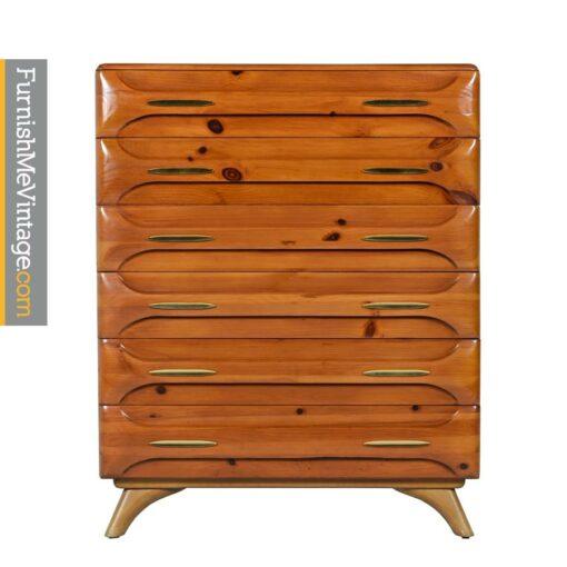 sculptured pine,highboy,dresser,franklin shockey,rustic,modern