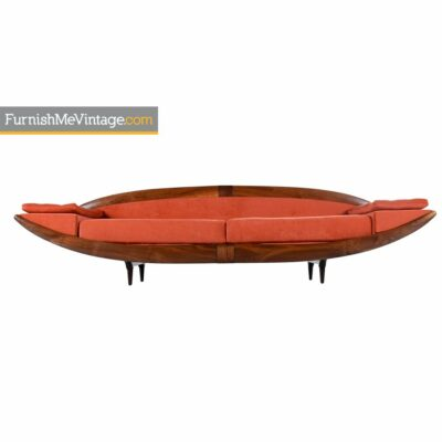 adrian pearsall,asian modern,gondola,sofa,walnut,couch