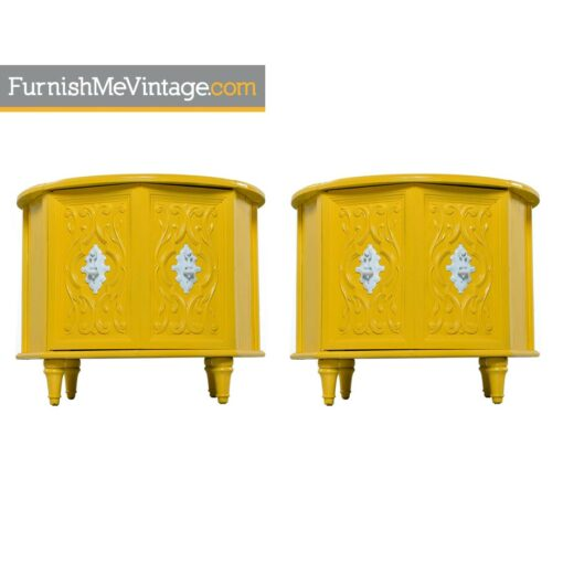 cabinets,stone, yellow,hollywood regency,nightstands