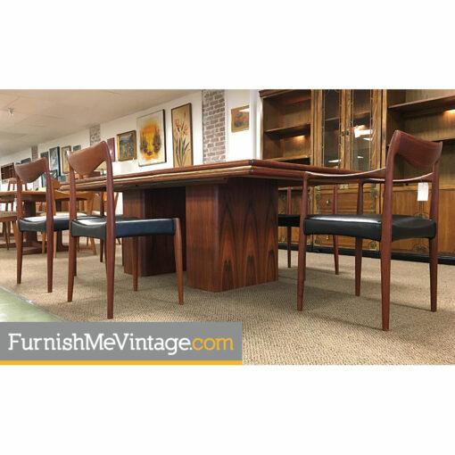skovby,modern,danish,vintage,Rosewood, Pedestal Dining Table