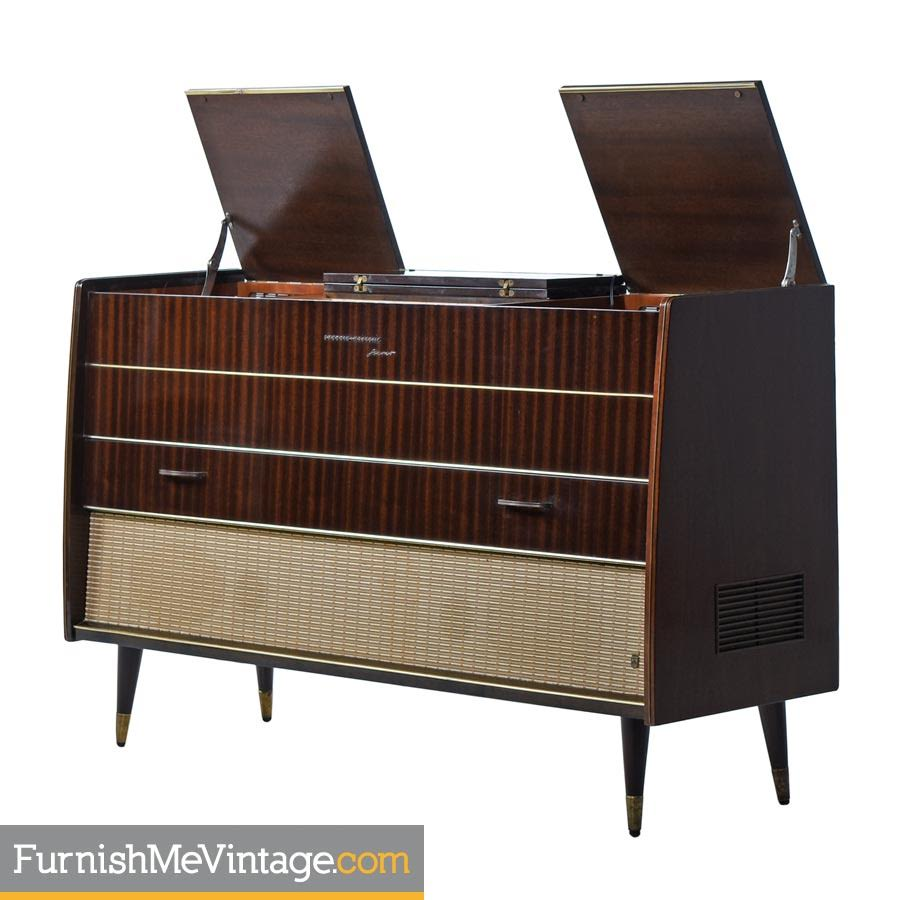Grundig Majestic Turntable Console Stereo Credenza