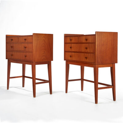 danish,modern,teak,nightstands,bedside tables