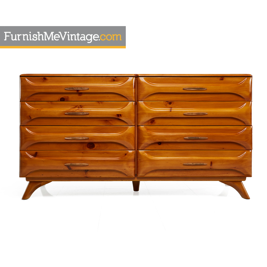 1950s Franklin Shockey Sculptured Pine Double Dresser